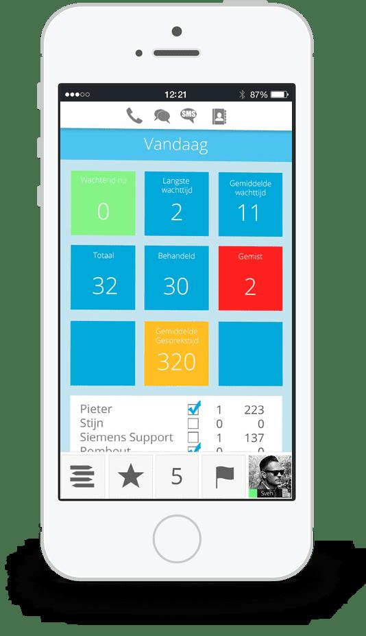 Xelion app voorbeeld